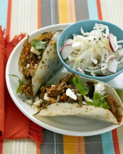 Slaw served here with tacos