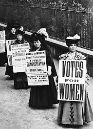 Suffragettes in action