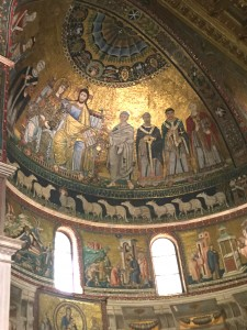 Ceiling mosaic St. Maria in Trastevere