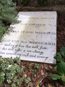 Shelley's grave at the Non Catholic Cemetery